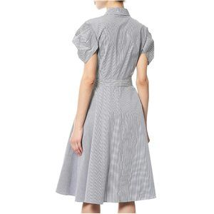 DKNY Dresses - NWT Donna Karan Striped Balloon Sleeve Shirt Dress